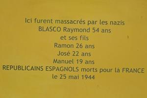 Des victimes civiles : la famille BLASCO