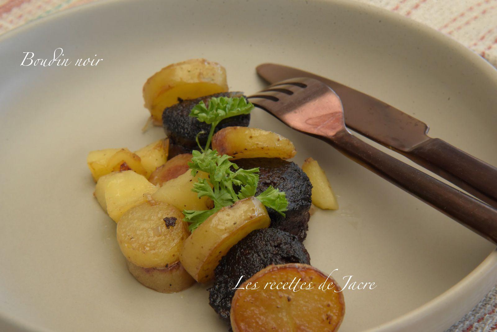 Poélèe de boudin noir aux deux pommes