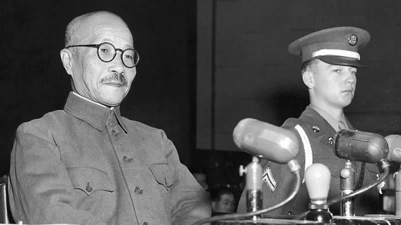 World War Two, Hideki Tojo (left) was convicted of war crimes and executed Getty Images image