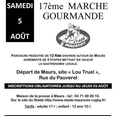 17ème Marche Gourmande du Stade Maursois