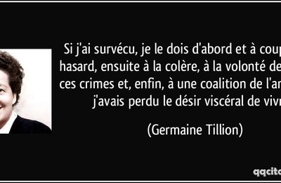 Biographie de Germaine Tillion
