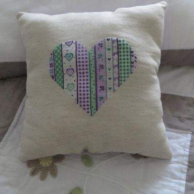 Sal coeur patchwork finition
