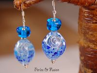 collection *transparence* et boucles d'oreilles puces *art*