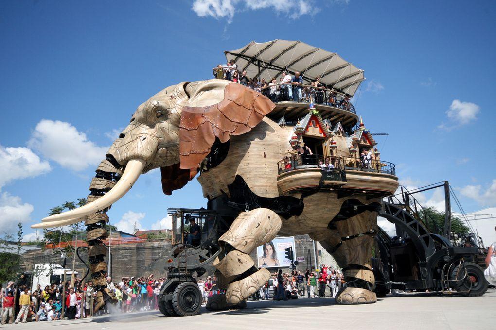 L'Elephant de Royal de Luxe à Nantes - Ile de Nantes - Photos Thierry Weber Photographe de mer à La Baule Guérande