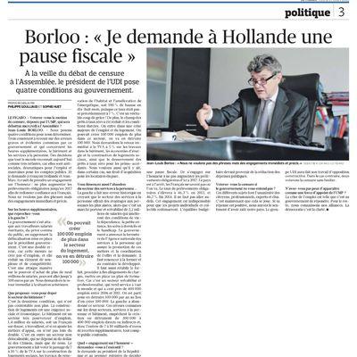 """Borloo : """"Je demande à Hollande une pause fiscale"""""""