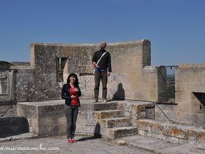 Cilou, Raph et MimiManouche sur la terrasse de la tour.