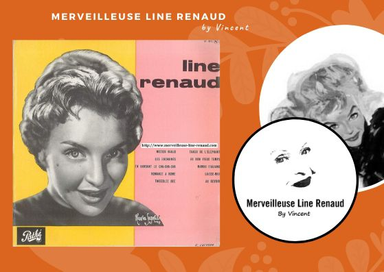 33 TOURS: 1955 Pathé - 33 AT 1076 -Line Renaud