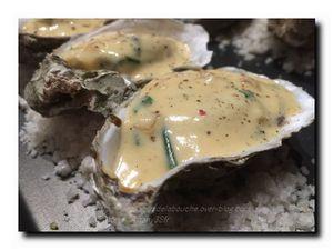 Huîtres chaudes gratinées au cidre