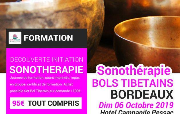 """BORDEAUX - Formation Sonotherapie """"BOLS TIBETAINS, utilisation CORPS et CHAKRAS"""" Dim 06 octobre 2019"""