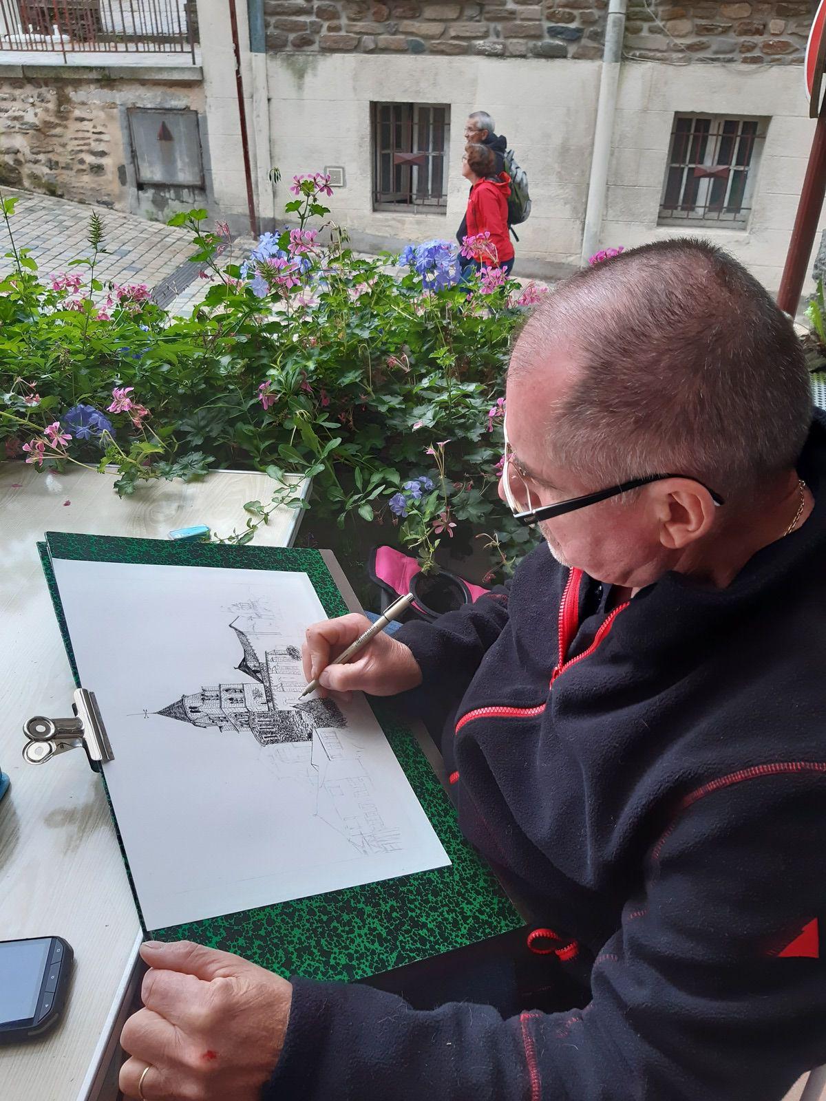 20 ans Art'Scène Uzerche, les peintres dans les rues