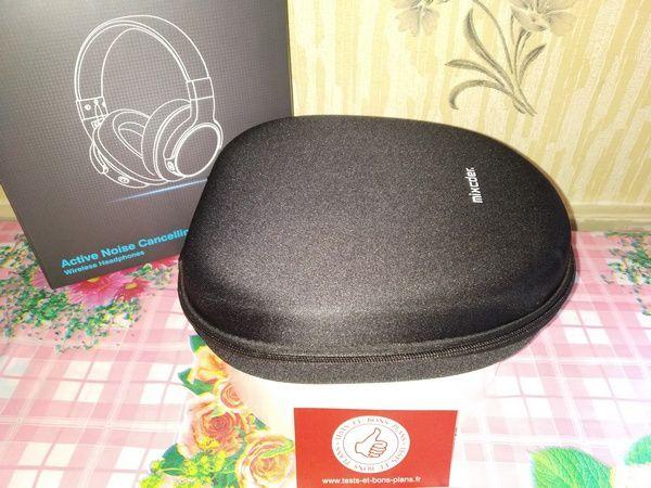 unboxing casque Bluetooth 5.0 à réduction de bruits ANC - Mixcder E7 (version 2019) @ Tests et Bons Plans