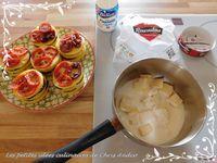 Mille feuilles de polenta aux légumes du soleil et sa sauce Roucoulons