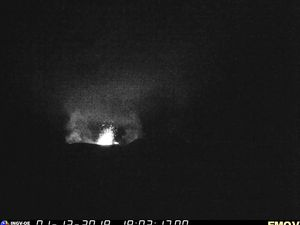 At Etna, explosive activity is observed at the four summit craters on the 1st of December; The Bocca nuova, the Voragine and the northeast crater show a nocturnal glow.  A small explosion marked the new south-east crater at 9 pm local    Sources: INGVvulcani and Boris Behncke