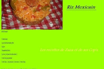 Riz Mexicain.