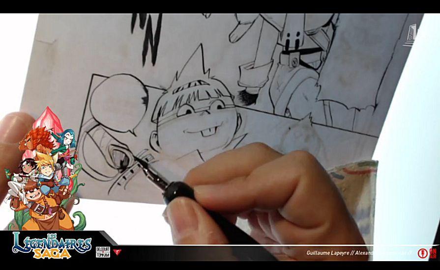 ALERTE : Après Jessica Jung pour Parodia, Guillaume Lapeyre dessine en live pour Saga !