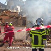 Une maison soufflée par une explosion au gaz à Limoges - Le Journal du week-end | TF1