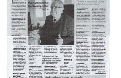 ARTICLE SUR VAR MATIN DE MONSIEUR RENÉ JOURDAN MAIRE DE LA CADIERE D'AZUR