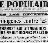 """""""Ils"""" ont osé ! La décision du pouvoir PS d'nterdire la manifestation unitaire des syndicats est une preuve de faiblesse et une réaction de peur... Un précédent : la grève du 30 novembre 1938, réprimée par le radical Daladier - Ça n'empêche pas Nicolas"""