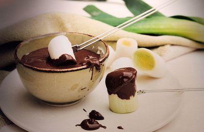 Sauce chocolat pour une photo