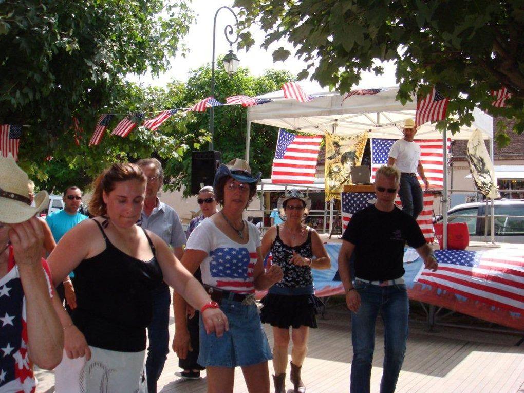 Journée country à Bellegarde organisé par le comité des fêtes et animé par Pat et Fred et les Friends of country, magnifique après midi malgré la chaleur, Merci pour cette belle journée