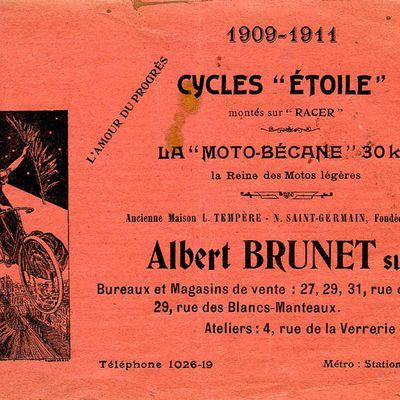 Un catalogue, une marque : Étoile 1909-1911