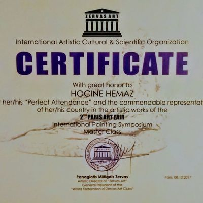 Biography -Hocine HEMAZ _    Artiste Plasticien / Artiste Painter