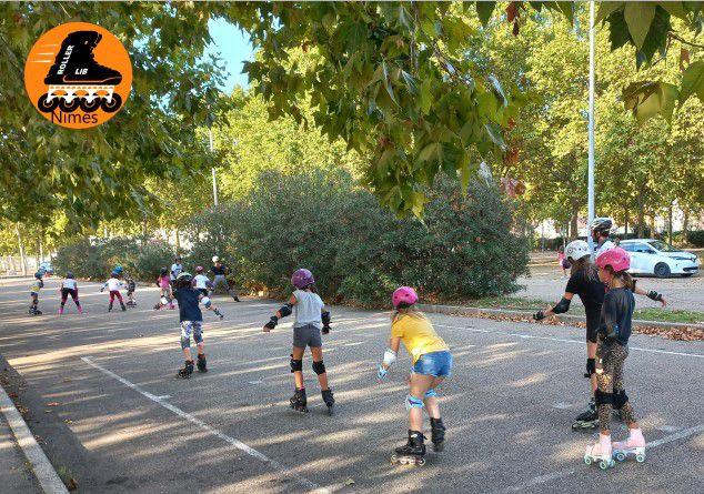 Cours, sport, enfant, nimes, roller, pass-sport, gard