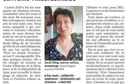 Interview dans Le Progrès Lyon