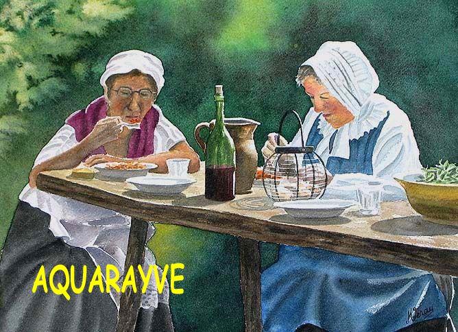Inspiré par les oeuvres de jack Vettriano, voici quelques aquarelles avec des personnages mis en scène. (A suivre...)