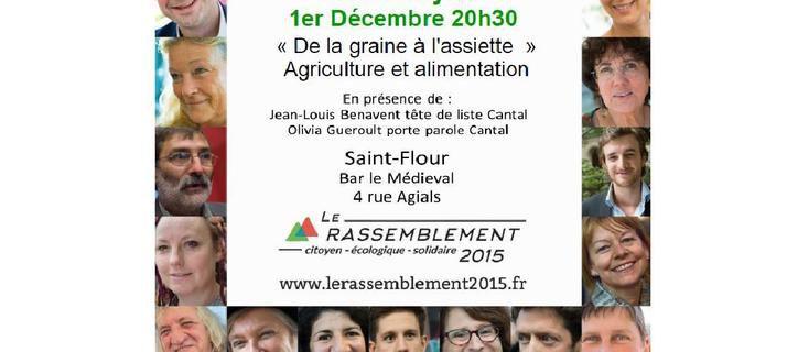 Café citoyen à Saint-Flour : Agriculture et alimentation