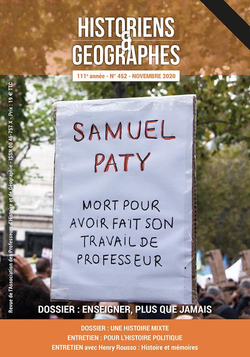 Revue H&G  n°452 - novembre 2020 - Hommage à Samuel Paty