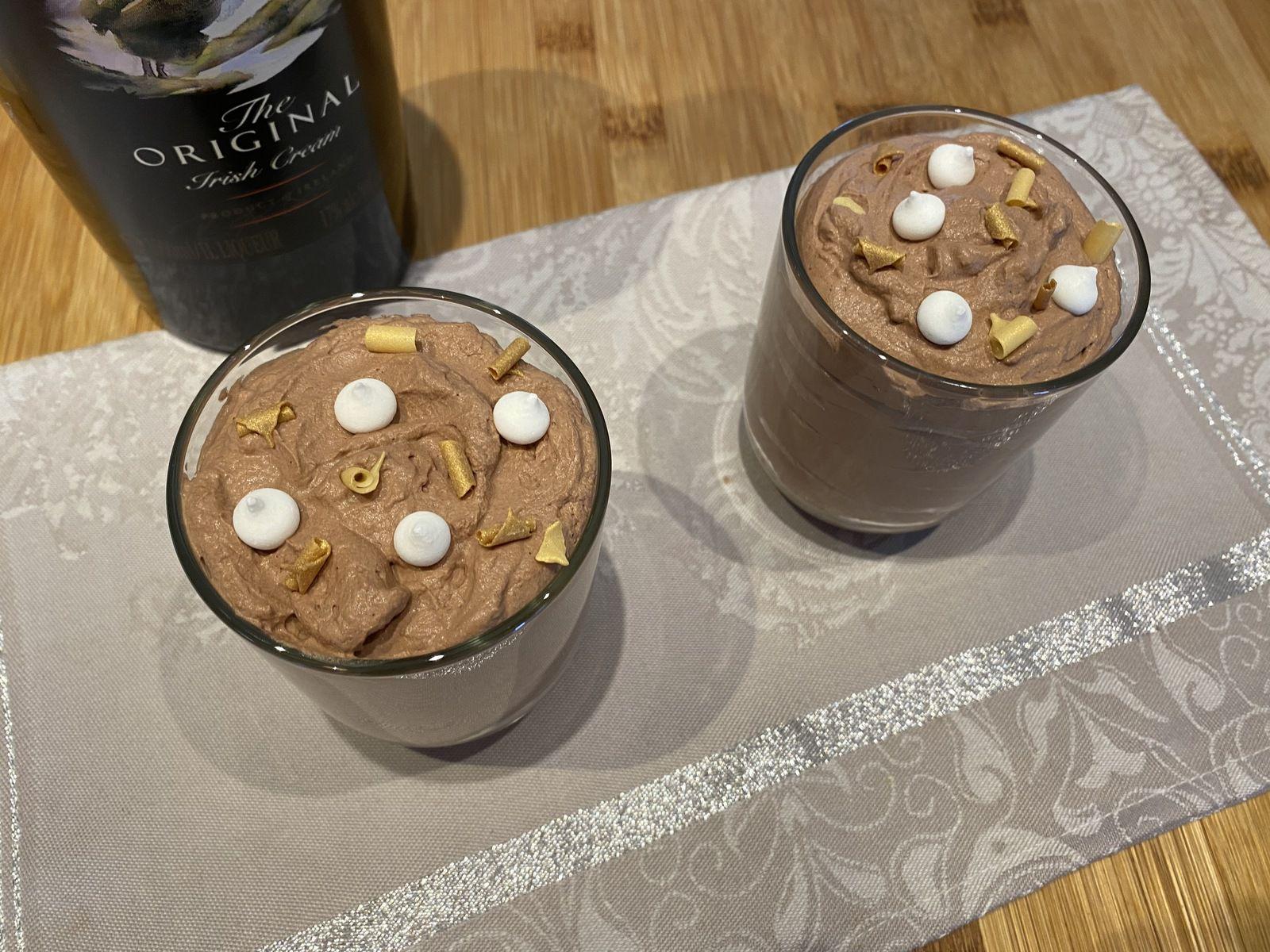 Mousse au chocolat et au Bailey's