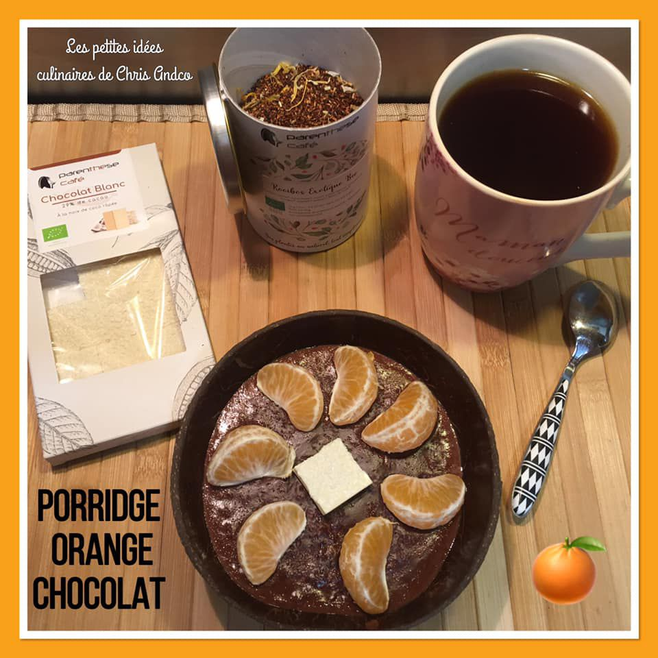Porridge orange et chocolat