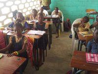 Salles de classe de l'école St Joseph en 2011, puis équipées par ACTIONS HUMANITAIRES