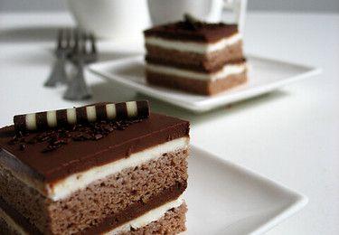 Gâteau au chocolat et mascarpone - Čokoladne maskarpone kocke