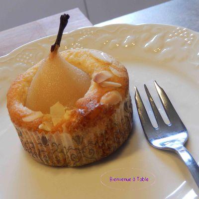 Petits gâteaux poires et amandes !