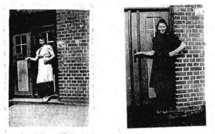 Irmgard Furchner, pictured left and right, failed to appear in court