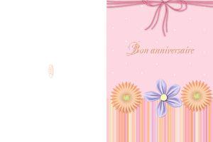 Carte à imprimer ~Bon anniversaire~