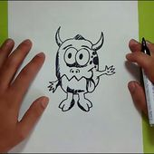Como dibujar un monstruo paso a paso 8   How to draw a monster 8