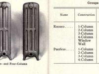 """Pour un bel appartement derrière l'Elysée Paris 8 , radiateur American Radiator Company catalogue 1913 , traduction """"peerless"""" sans égal sans pareil"""