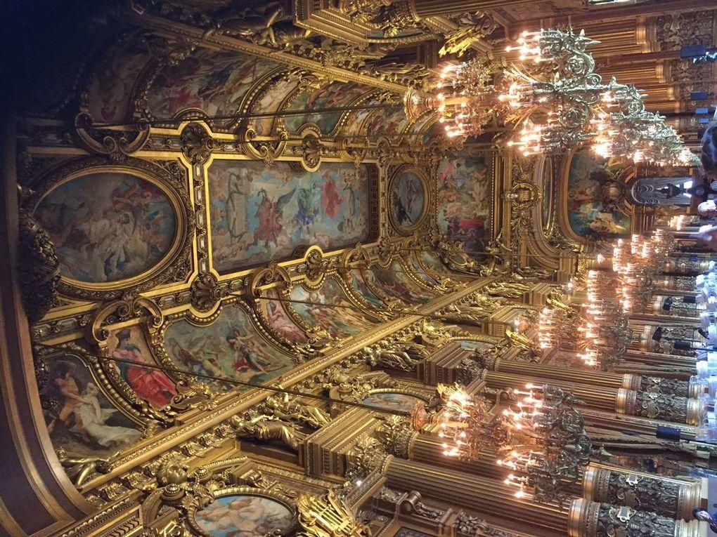 """Les élèves suivant l'option """"arts du spectacle"""" à l'Opéra  Garnier"""
