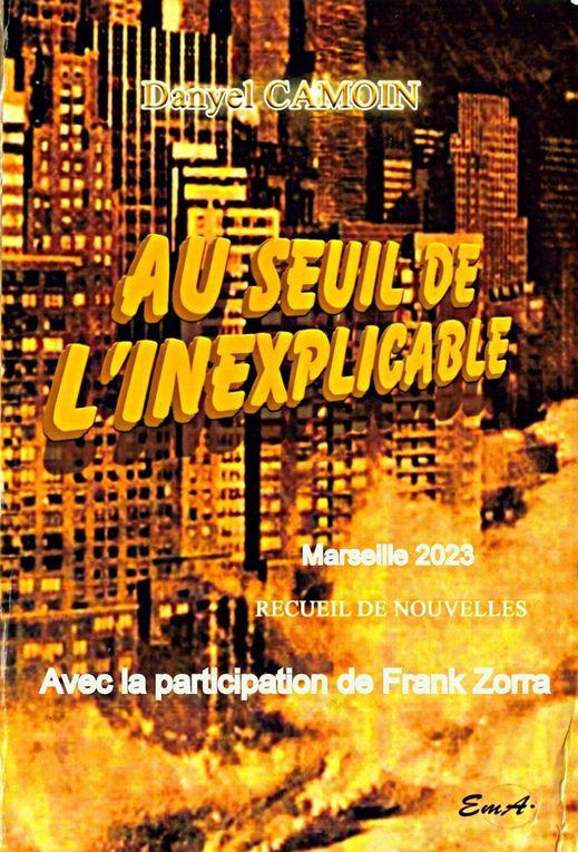 Frank Zorra au carré des écrivains avec nos adhérents : Denise Biondo, Geneviève Casaburi, etc...
