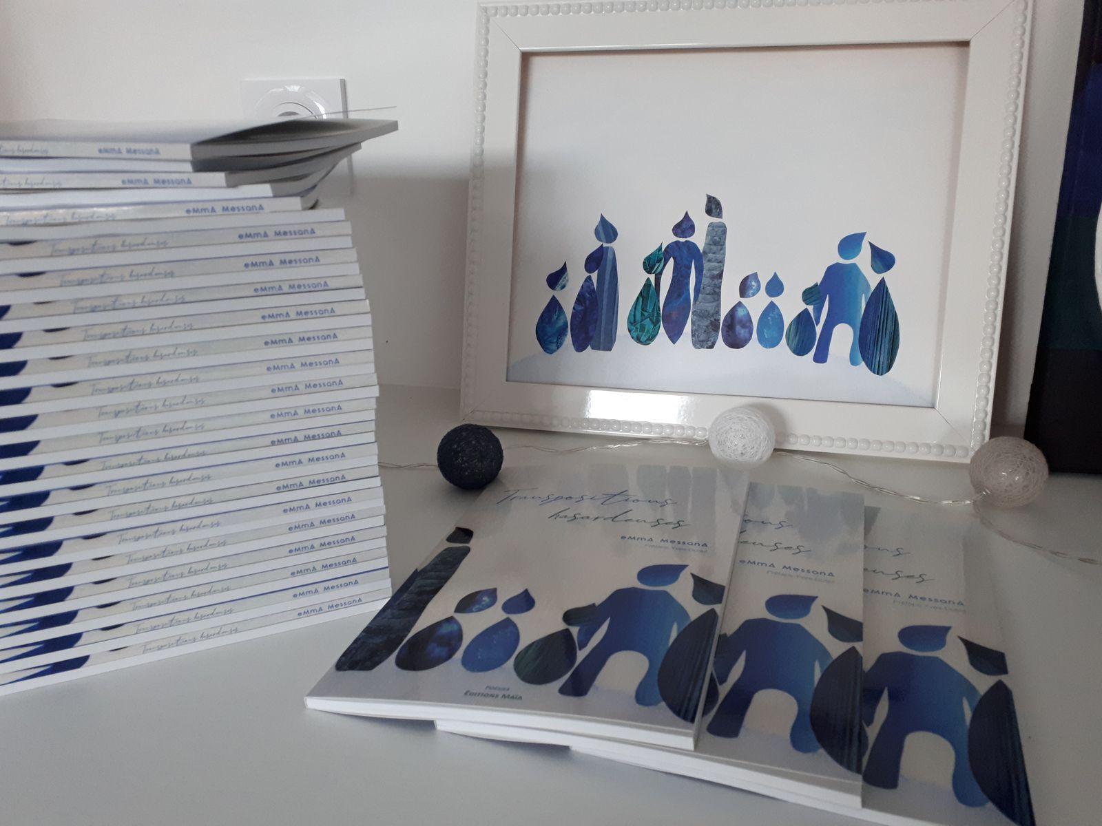 """""""Transpositions hasardeuses"""", écrit et illustré par eMmA MessanA aux éditions Maïa. Préface Yves Duteil."""