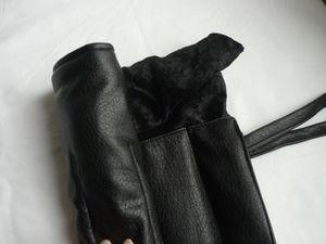 Simili cuir noir et velours noir Mondial Tissu Tours, molleton Toto Tours