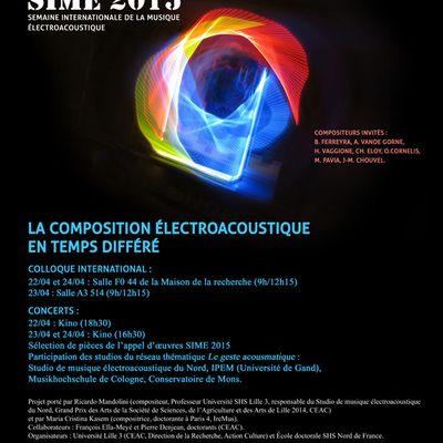 Semaine Internationale de la Musique Electroacoustique SIME 2015