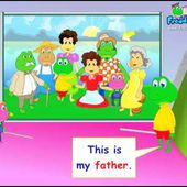 Family Members Vocabulary, English for Children