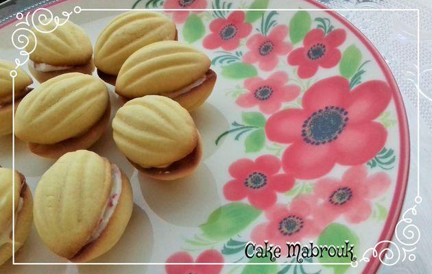 Petits gâteaux noix chocolat blanc pépites de fraise