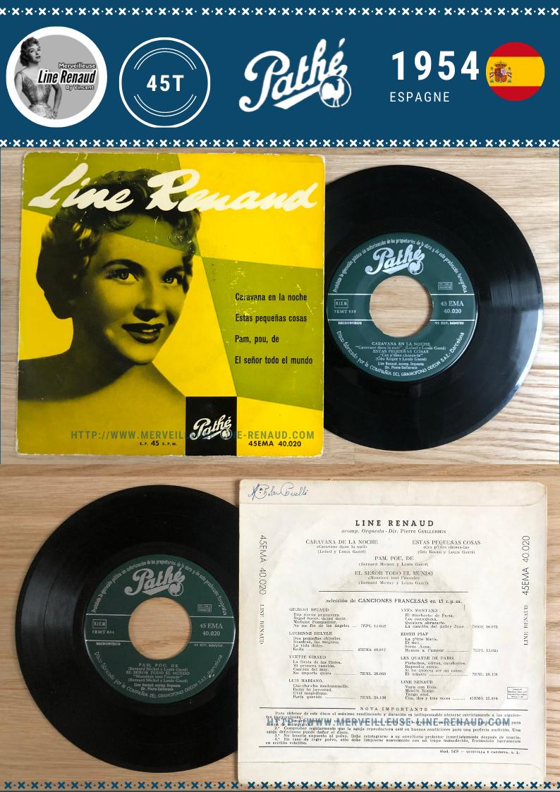 45 TOURS: 1954 Pathé - 45EMA 40.020 (Espagne)