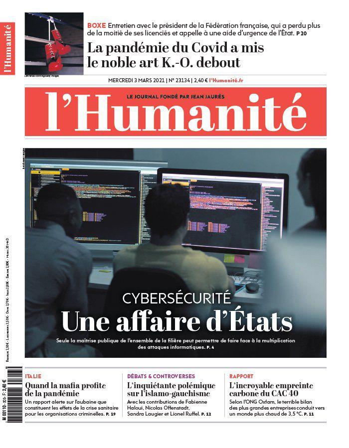 A la une de l'Humanité (03-03-21)