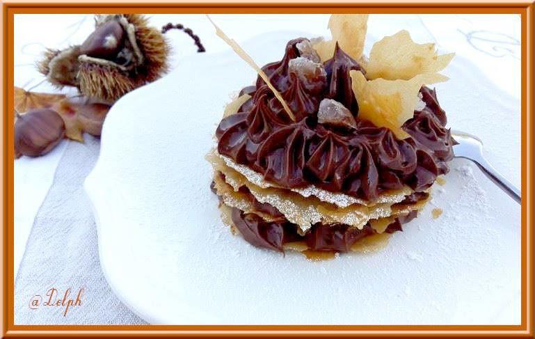 Mille-feuilles au chocolat...